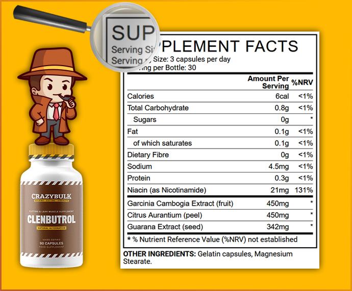 composition clenbutrol ingrédients